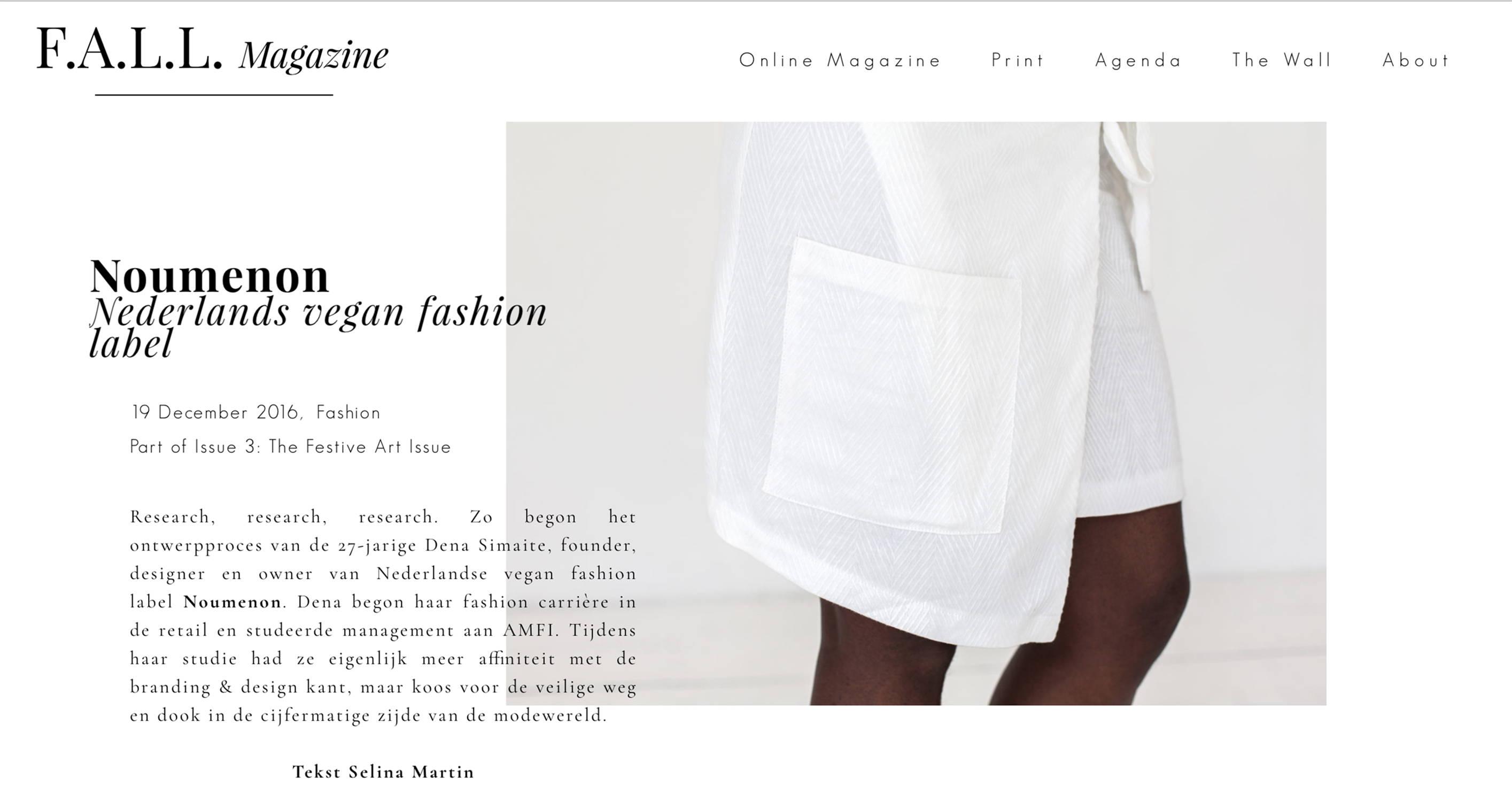 fall magazine noumenon vegan fashion