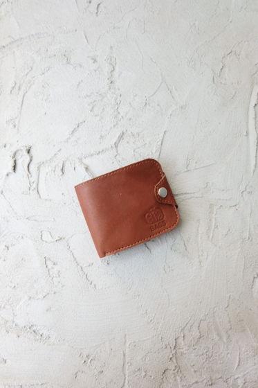 Коричневый портмоне №16 из натуральной кожи
