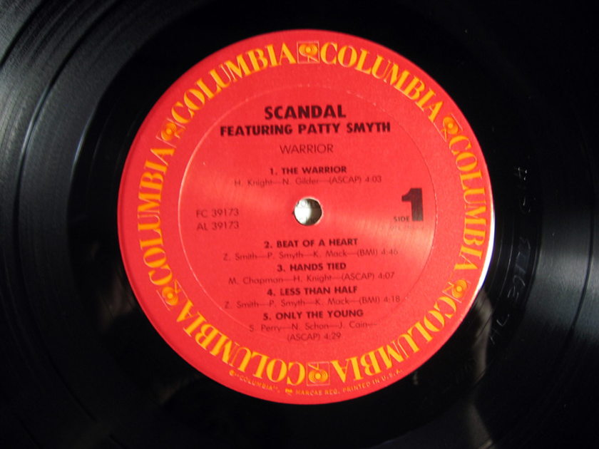 Scandal  Featuring Patty Smyth - Warrior - 1984 STERLING Mastered Columbia FC 39173