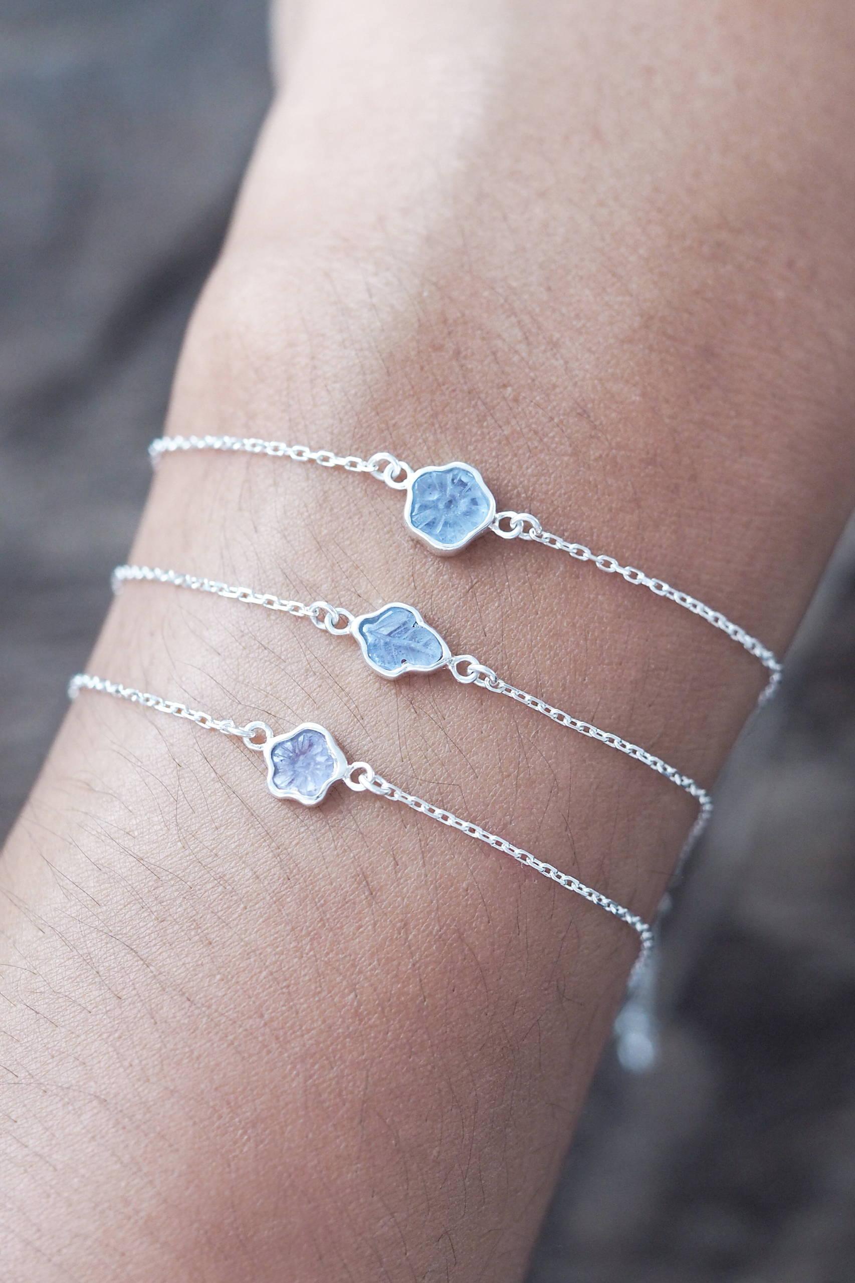 Montana Sapphire Flower Bracelet