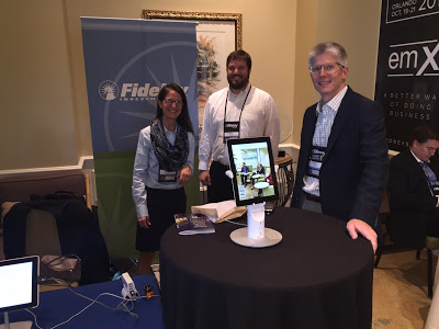 Ed O'Brien and the Fidelity team taking a low profile at the exhibit hall.