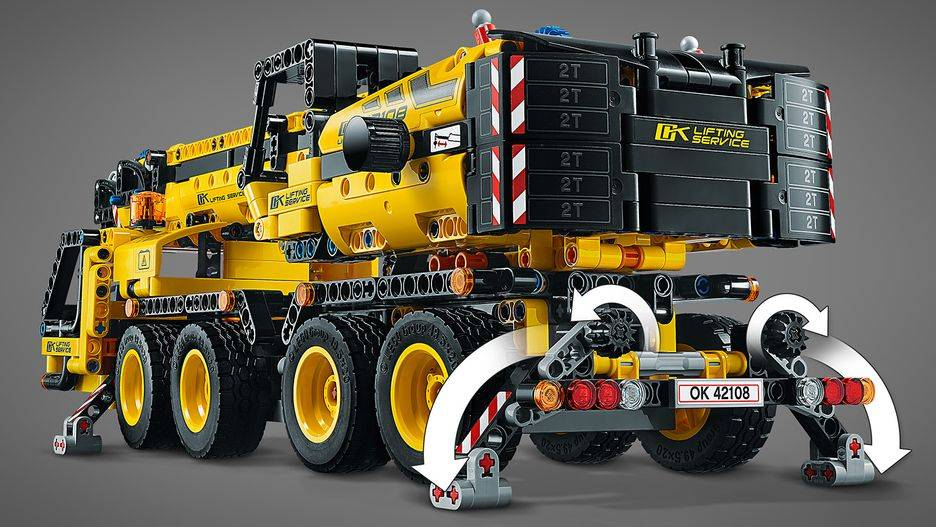 lego 42108 crane features