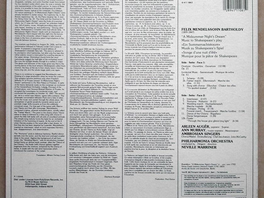 Philips Digital/Marriner/Mendelssohn - A Midsummer Night's Dream / NM