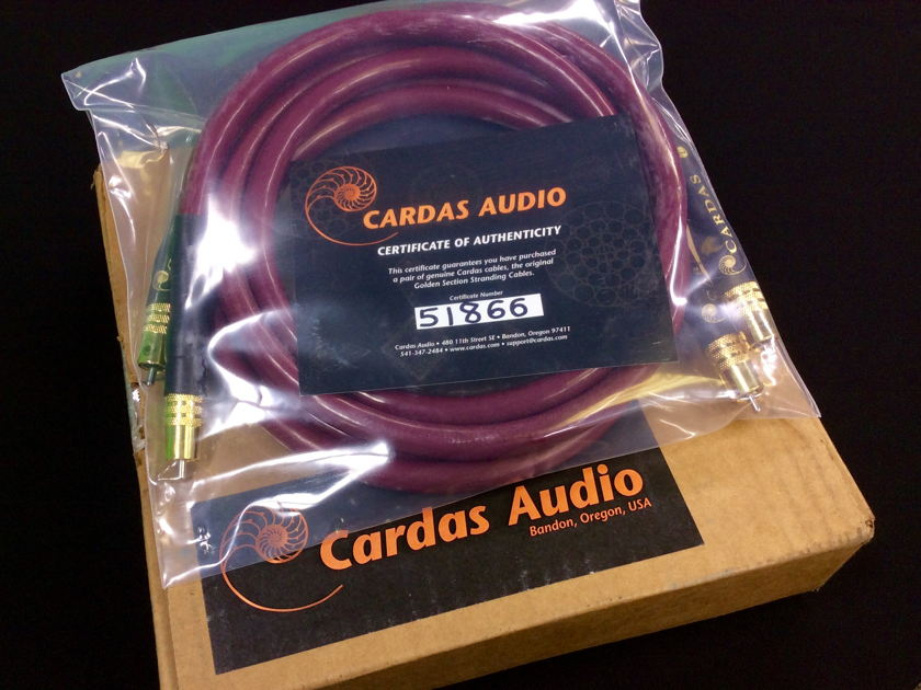 Cardas Audio 1.5M  Golden Cross Interconnects New Factory RCA Terminations w/ COA