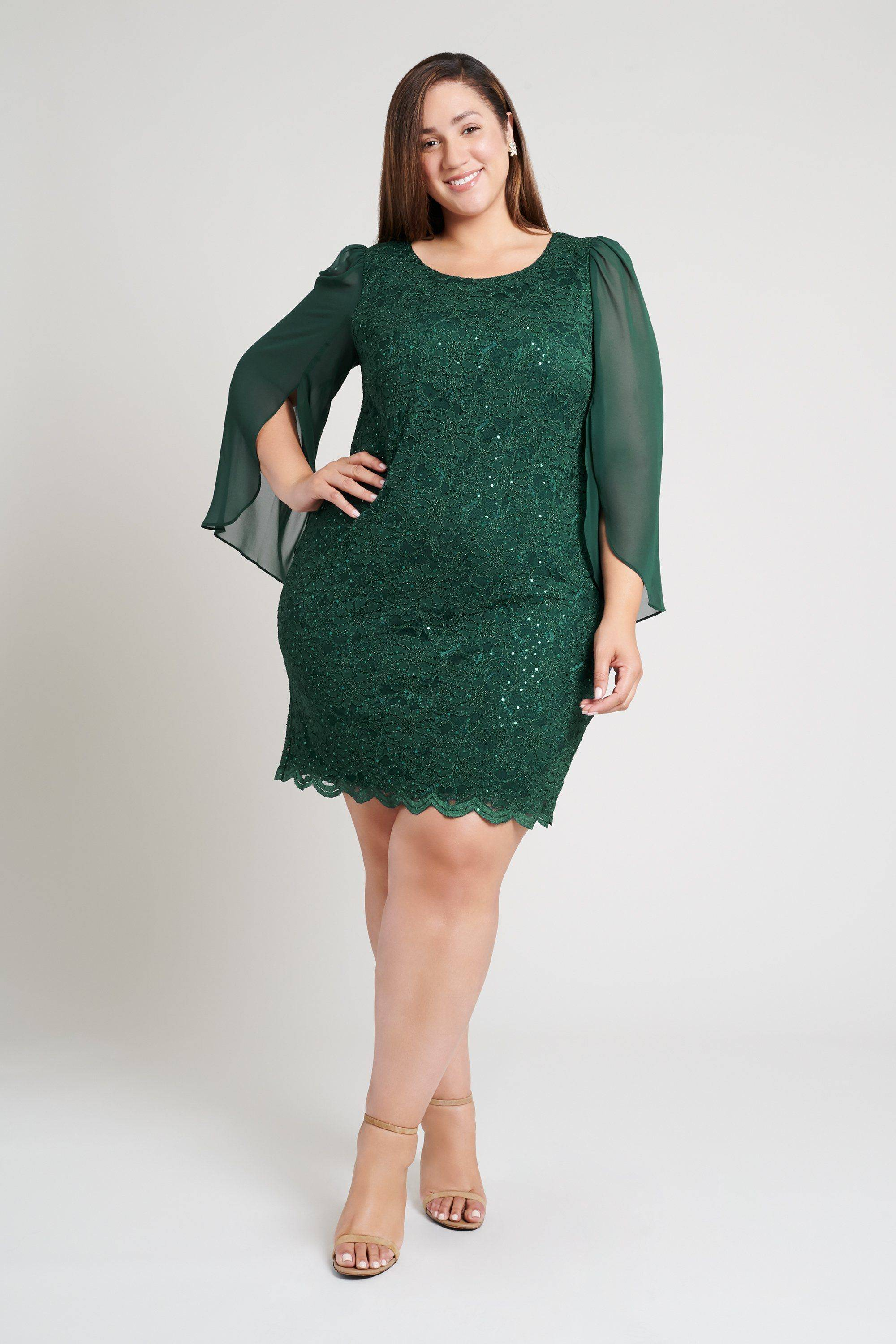 green-sequin-dress-plus-size-lace-hunter-holiday-conencted-apparel