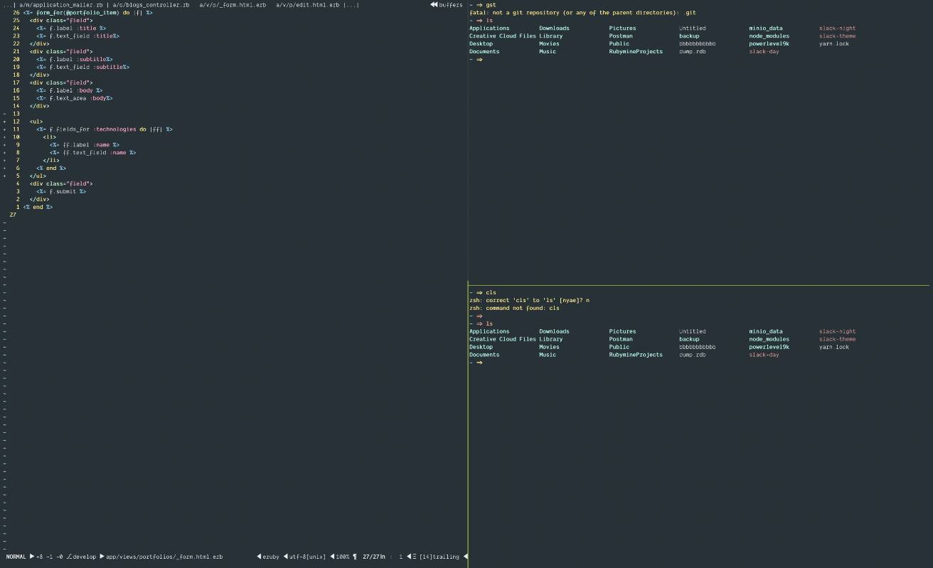 Setting up Vim, Tmux, iTerm and Oh-my-Zsh | Codementor
