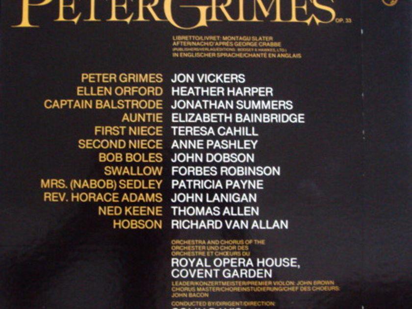 Philips / DAVIS, - Britten Peter Grimes, MINT, 3LP Box Set!