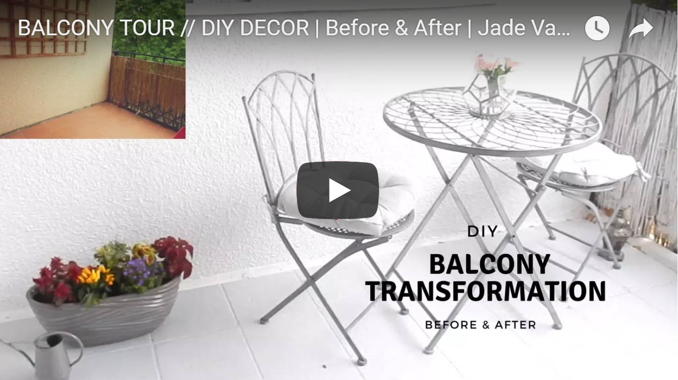 Jade Vanriel DIY Balcony transformation featuring Lazy Flora