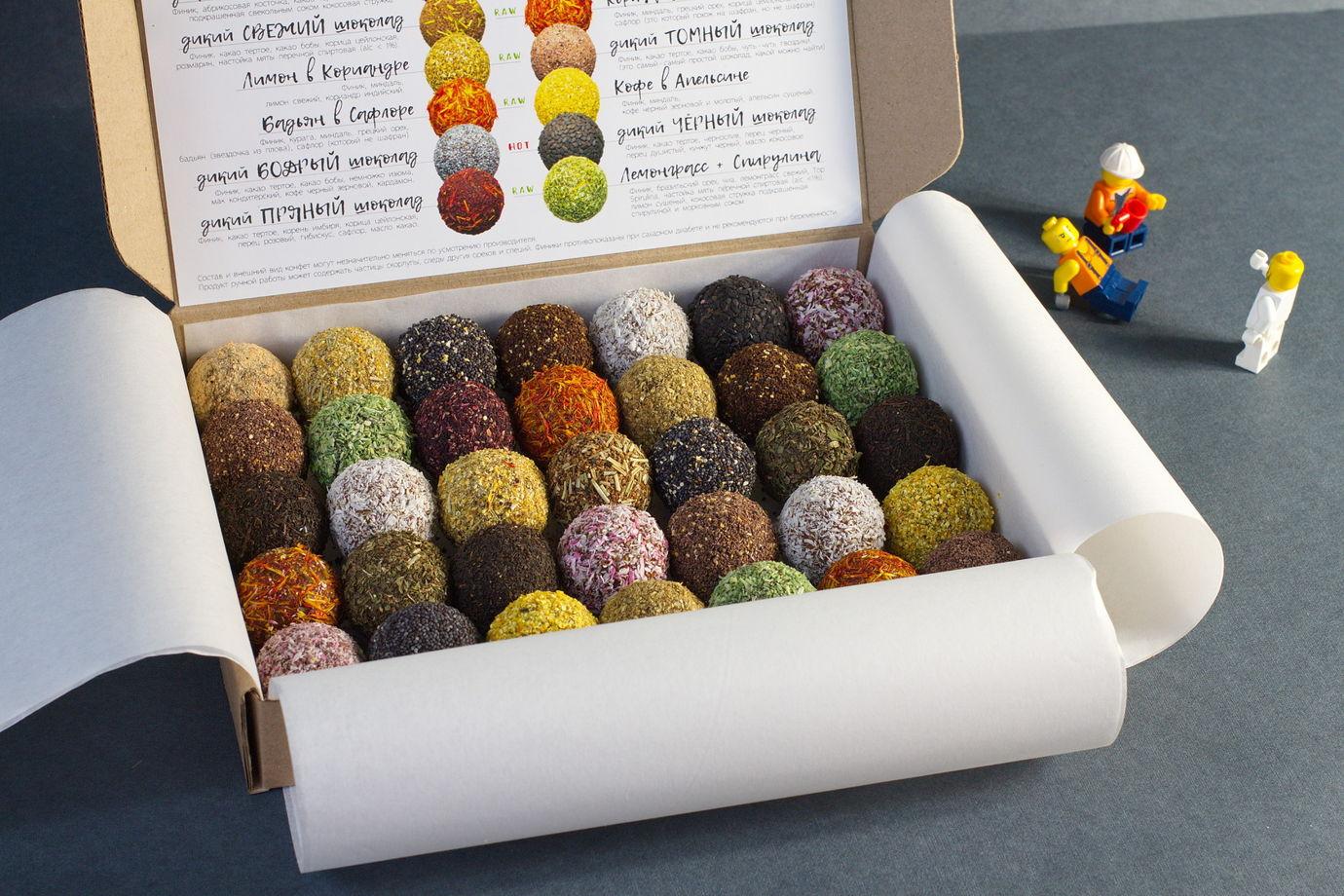 """микс 35.20 """"Держинг"""" - набор пряных финиковых конфет ручной работы"""