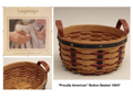 "Longaberger ""Proudly American"", Button Basket 10047"