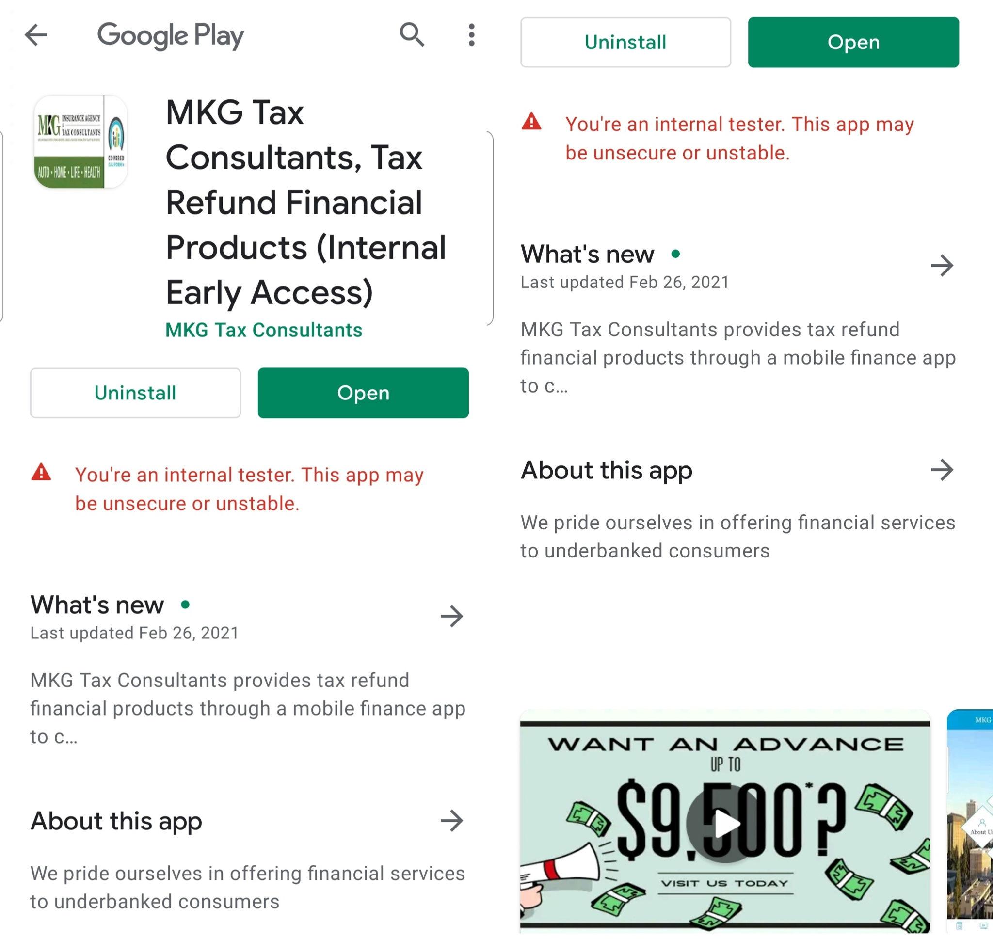 MKG Tax Google Play App