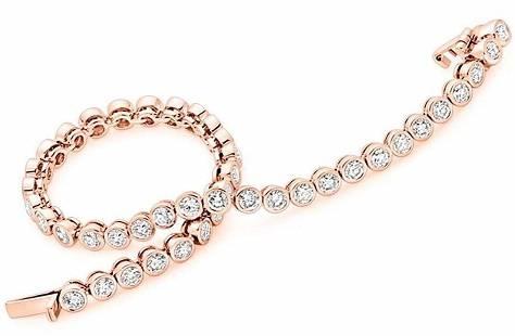 Exquisite diamond tennis bracelets from Pobjoy Diamonds