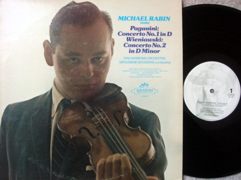 EMI Angel / MICHAEL RABIN, - Paganini Violin Concerto No.1 & 2, EX!