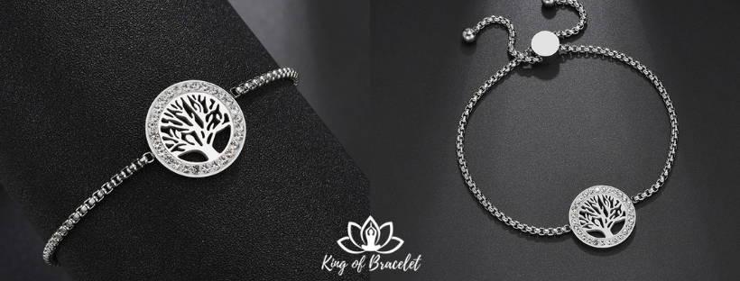 Bracelet Arbre de Vie en Acier Inoxydable - King of Bracelet