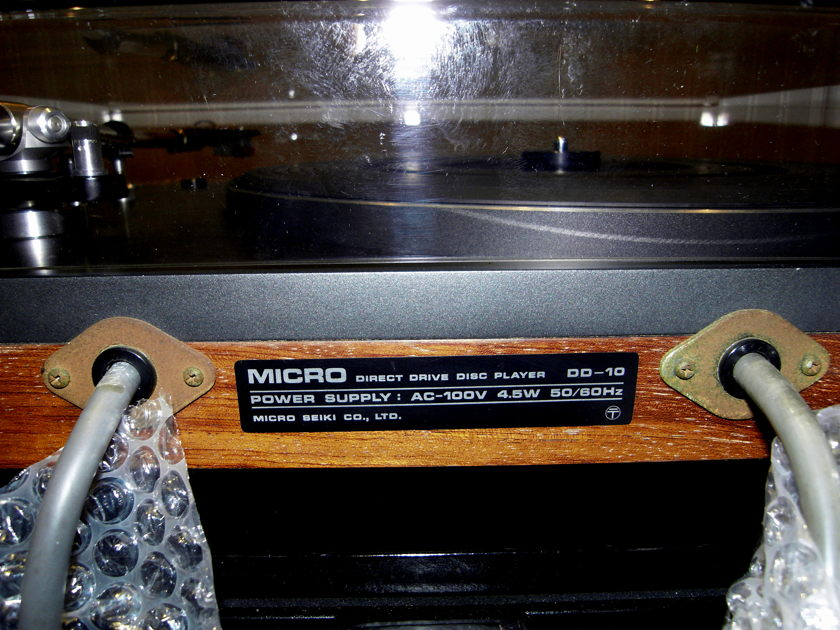 MICRO-SEIKI DD-10 RECORD PLAYER
