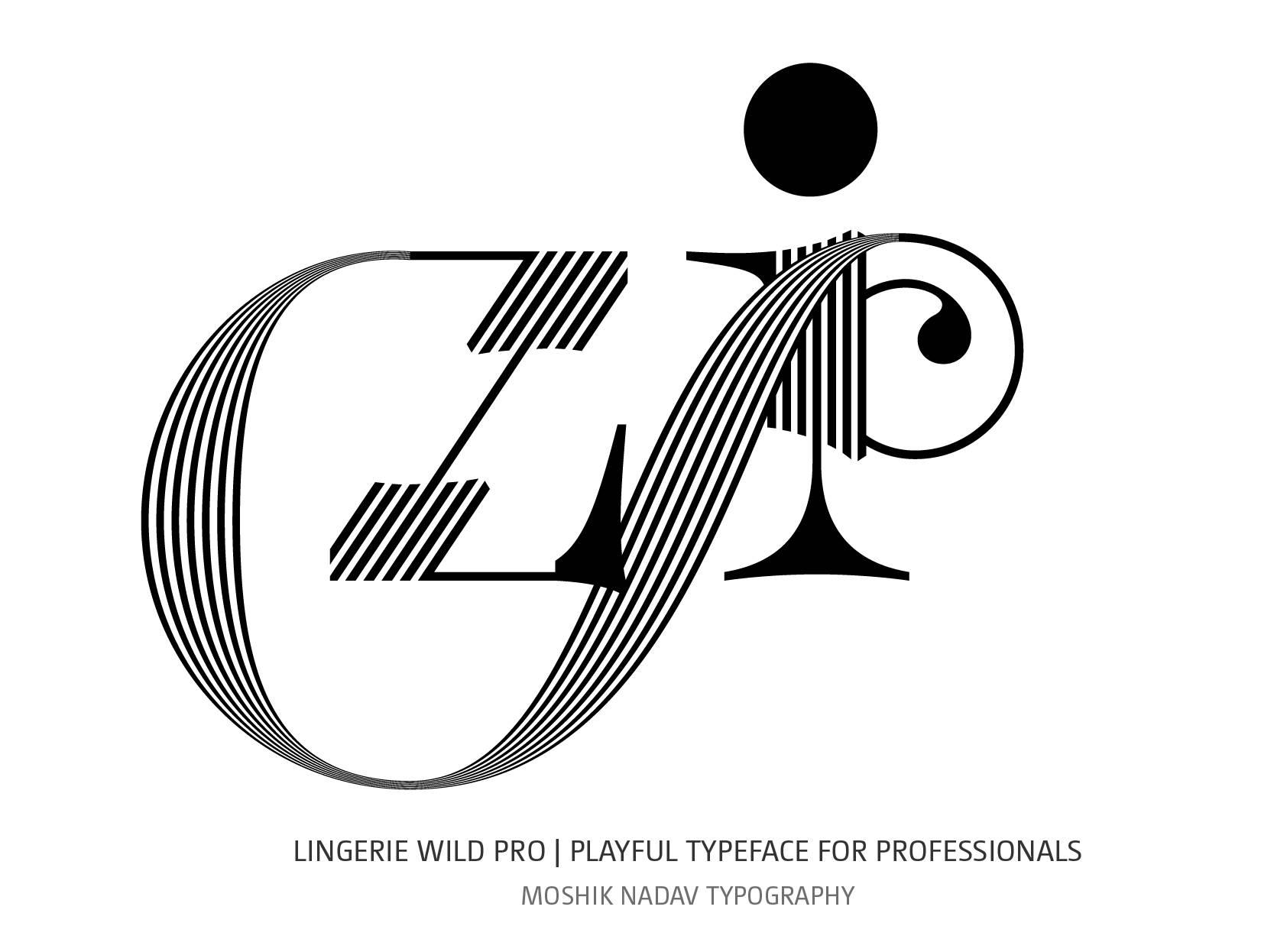 sexy ligatures font by Moshik Nadav Typography