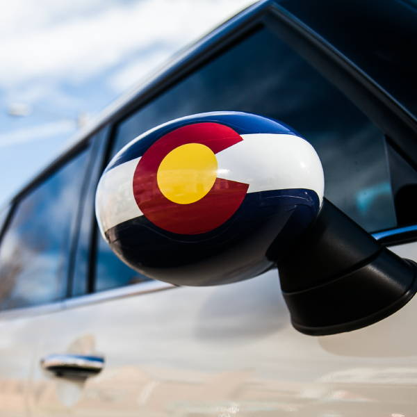 Spot Graphic - Colorado Flag Mirror Decal - Mini Cooper