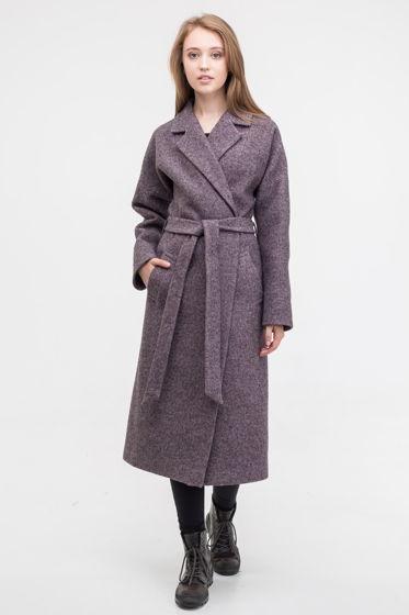 Пальто-халат серо-фиолетового цвета