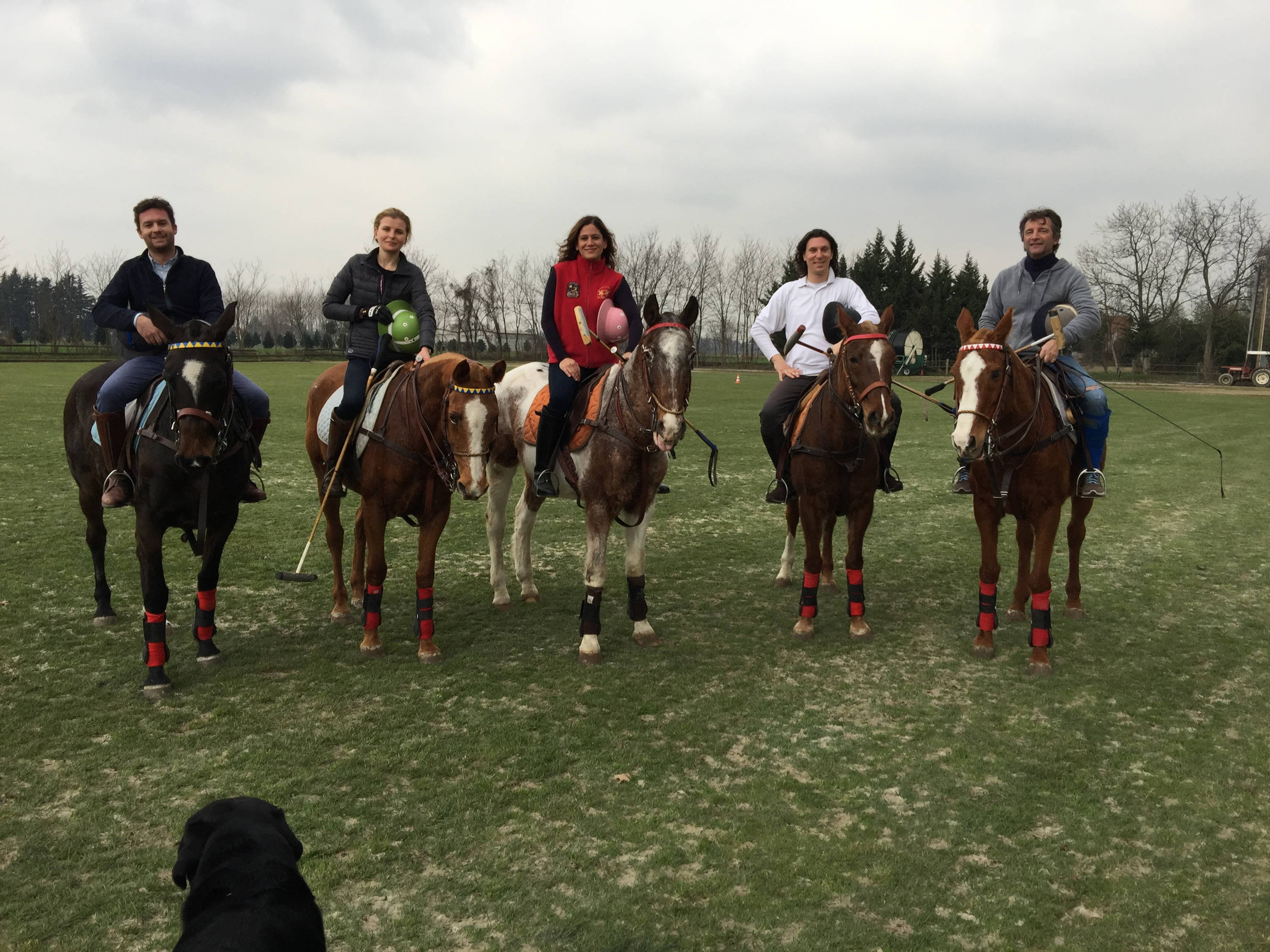 Stick & Ball Founder Elizabeth with the Milan Polo Club for early morning stick & ball