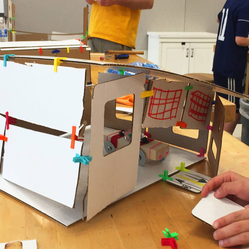 student model of cardboard house