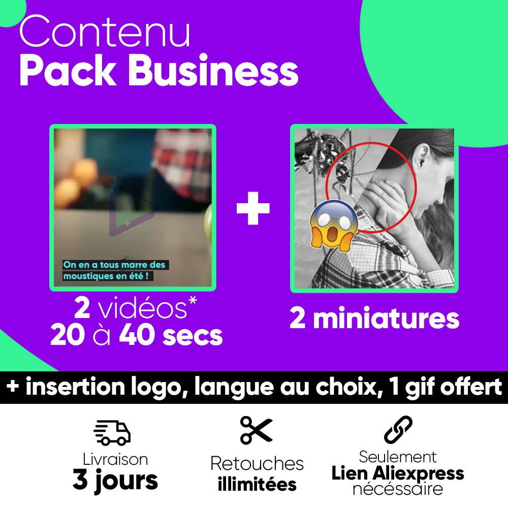 contenu pack business vidéo dropshipping