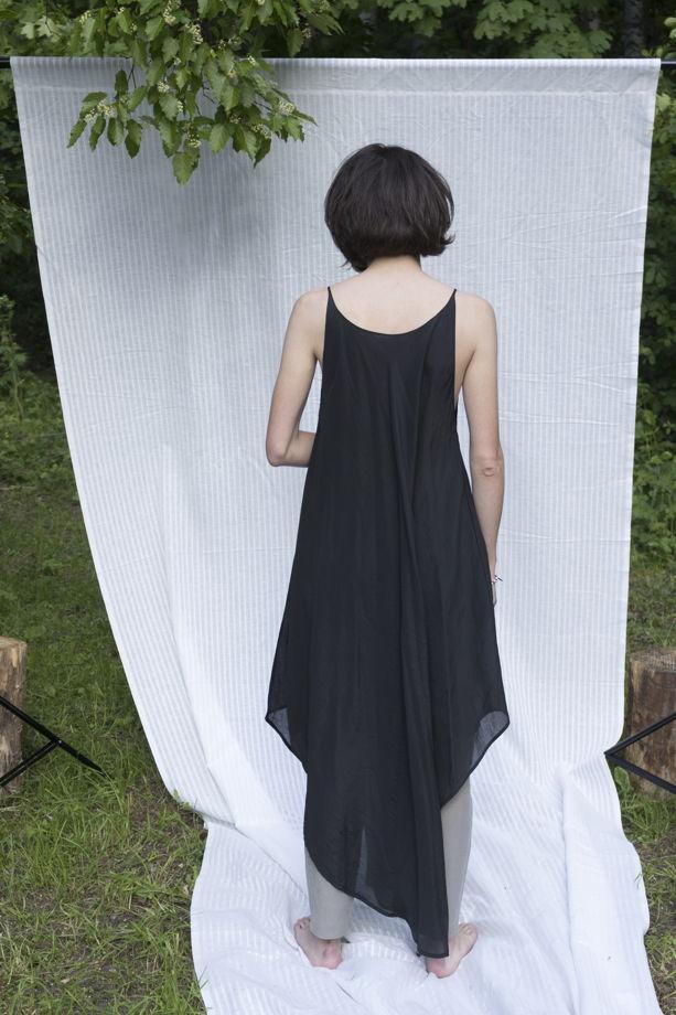 """Летящее летнее платье """"Конечно"""" черное"""