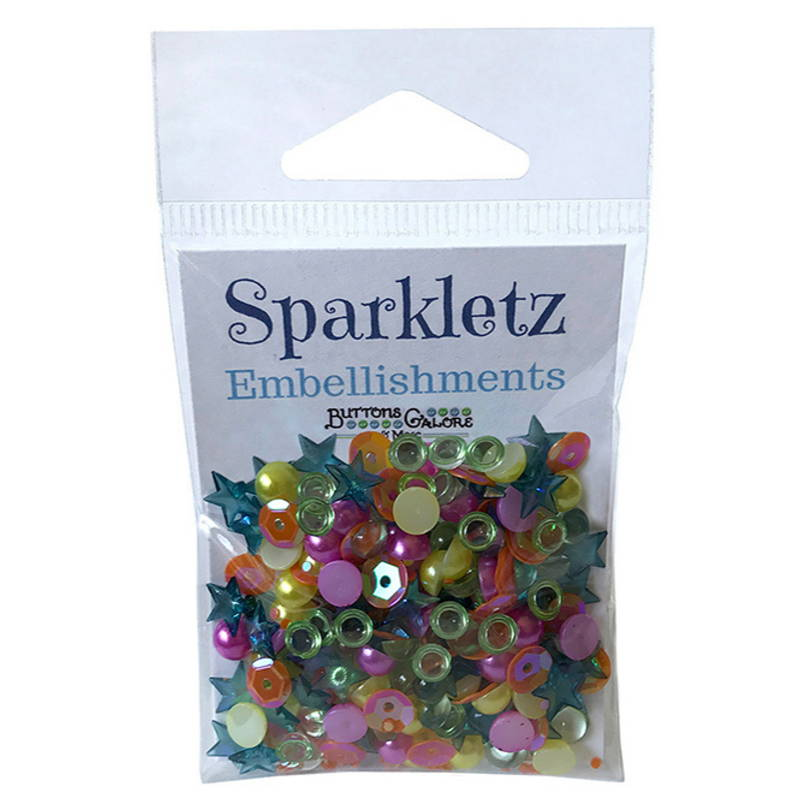 Get Beautiful Embellishments Sparkletz Buttons for Crafting