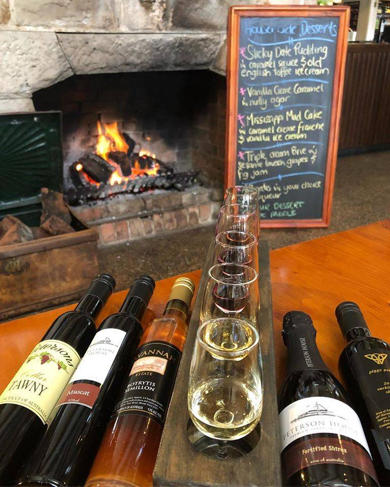 Cosy open fire at Blaxland Inn Hunter Valley Restaurant Hunter Valley Winery