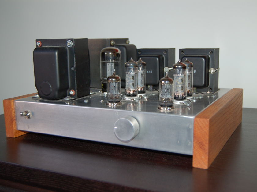 Custom Built 6P1P/6AQ5 Tube Push-Pull Integrated Amplifier Dynaco Z565 Output Transformers, C4S, Excellent built + parts