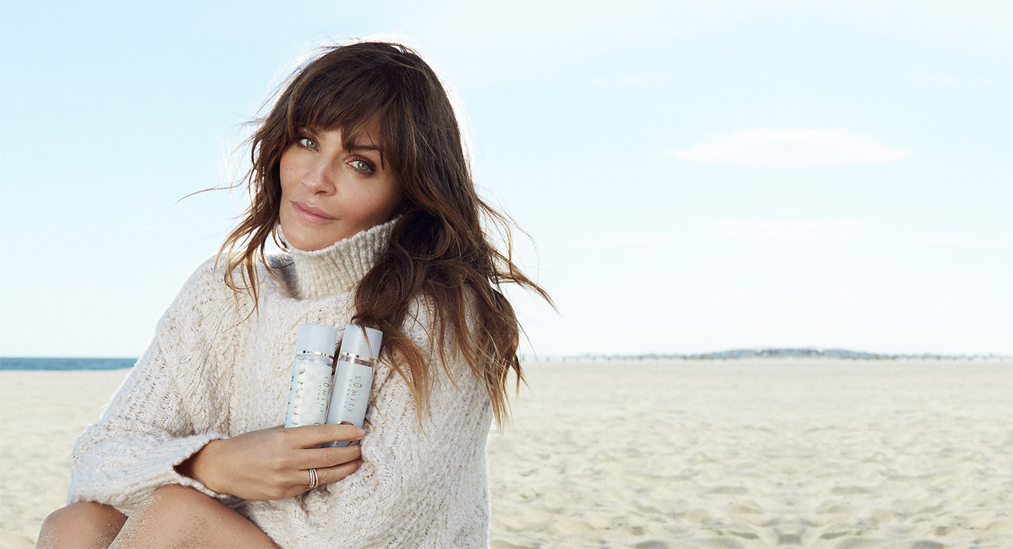 Helena Christensen with Lumity Products