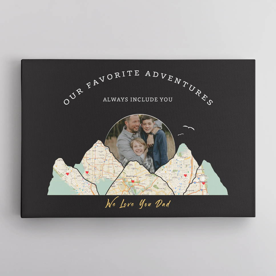 """If your husband loves traveling, you should consider easing his pain of sitting still during the pandemic. Help him recall his past journeys and plan a new destination with this Custom Travel Map. It won't hurt to dream about a """"Great Voyage"""" during the pandemic, right?"""