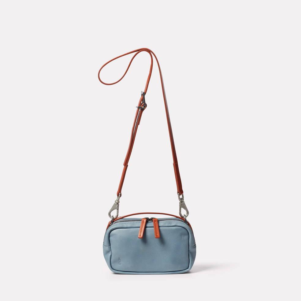 Limited Edition Leila Small Leather Crossbody Bag in Denim