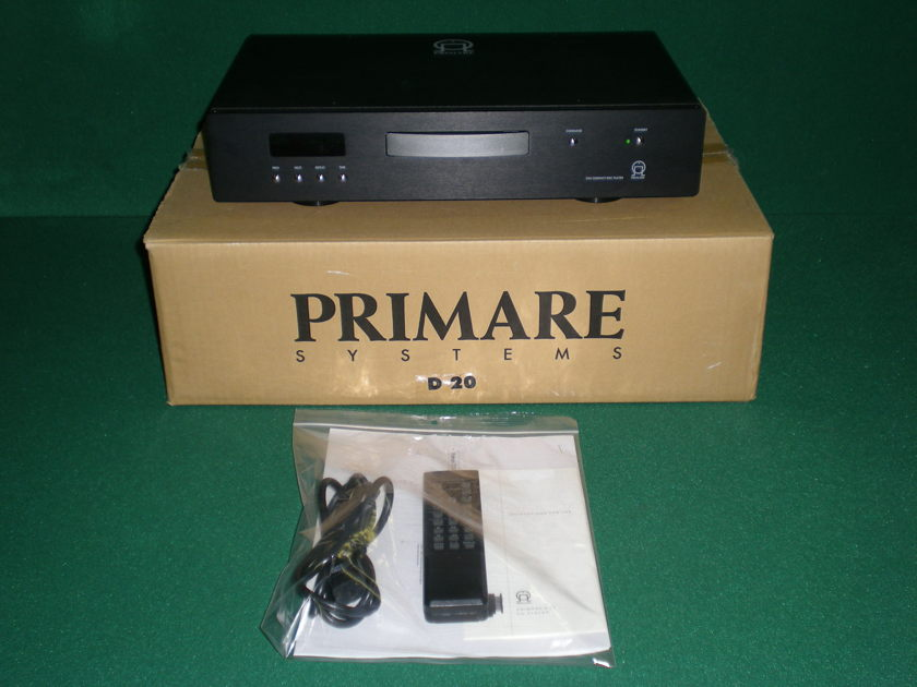 PRIMARE D20 CD PLAYER IN GREAT CONDITION IN ORIGINAL BOX