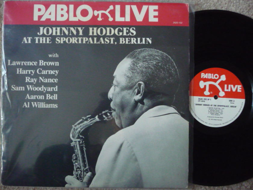 JOHNNY HODGES - AT THE SPORTPALAST BERLIN PABLO 2LPS EX