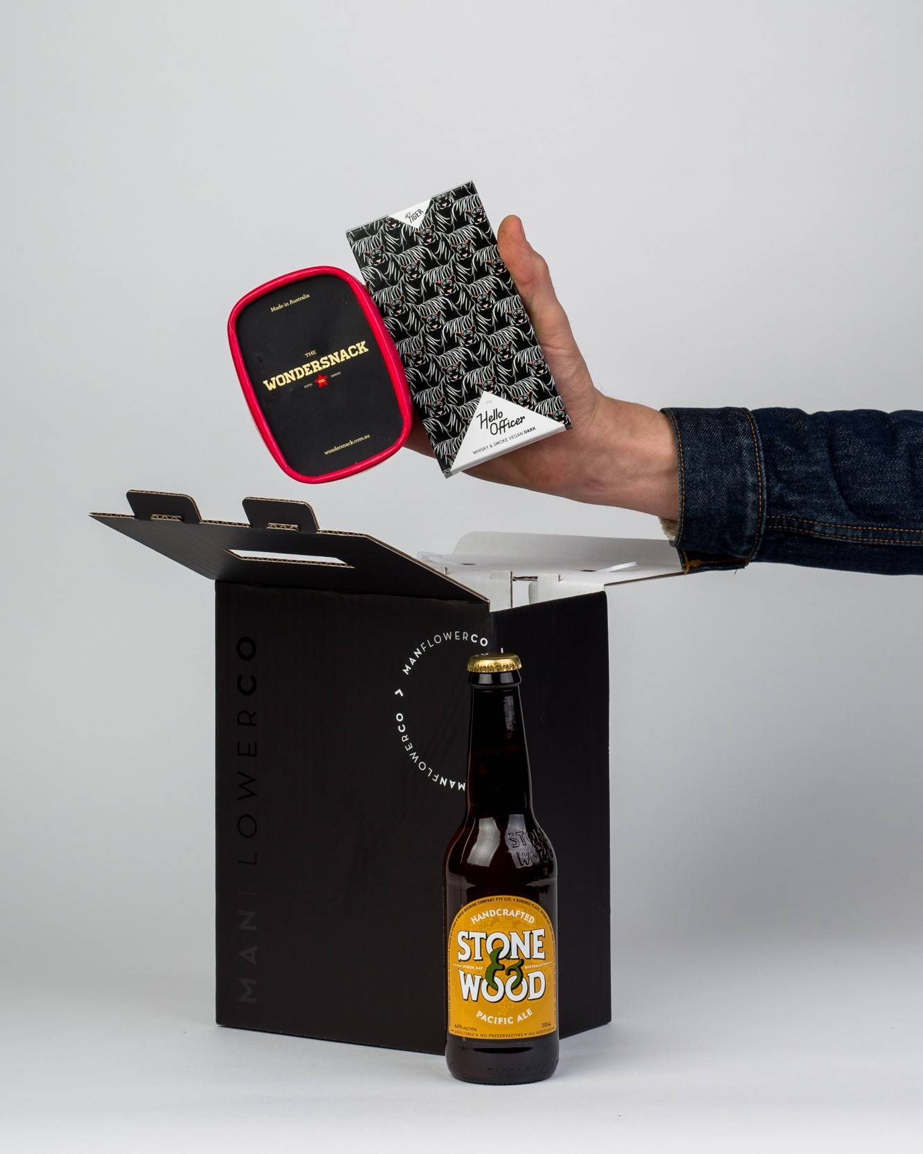 Hey Tiger + Nuts + Beer, part of Manflower Co's range of Father's Day Gifts.