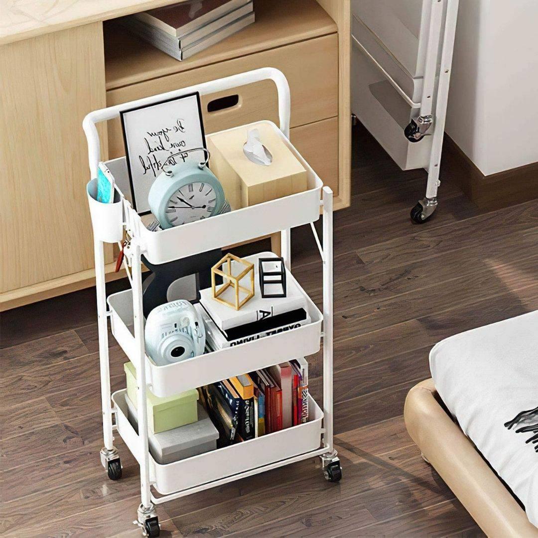 3 tier rack, bedroom shelf ideas, bedroom cart