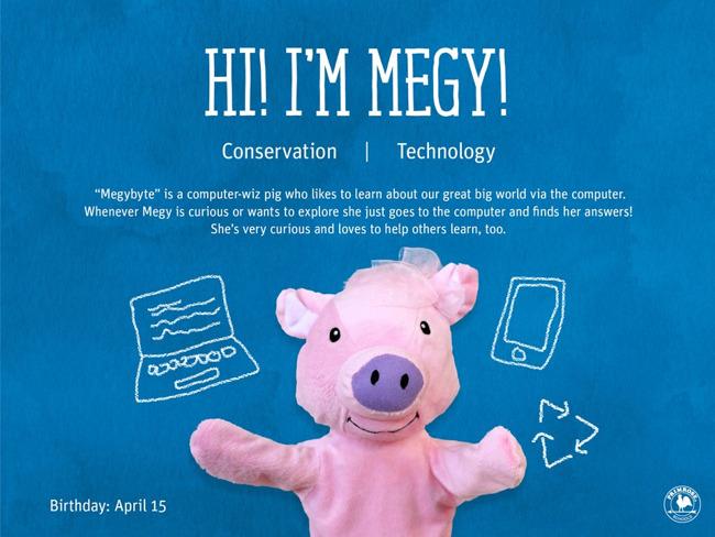 Illustration of Megy the pig