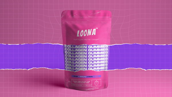 Brand identity and packaging for pharmaceutical-grade line products LOONA.