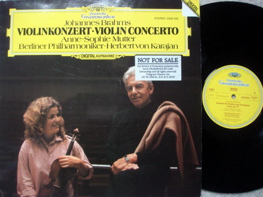 DG Digital / Brahms Violin Concerto, - MUTTER/KARAJAN/BPO, MINT, Promo Copy!