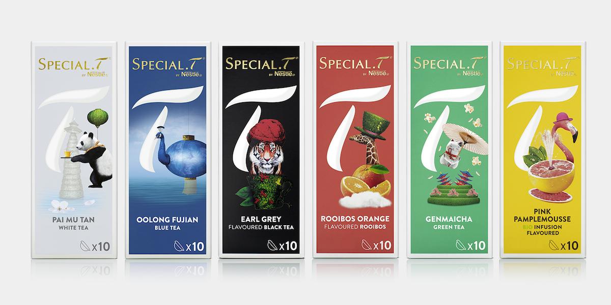 SPECIAL.T Nestlé Premium Tea Capsule Brand | Dieline