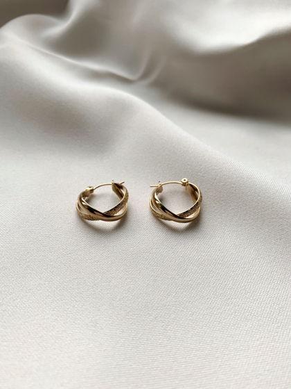 Серьги кольца в позолоте
