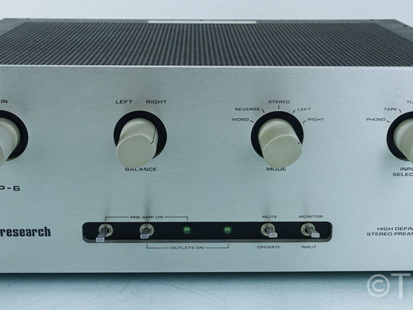 Audio Research  SP-6A Tube Preamplifier;  SP6A (8564)