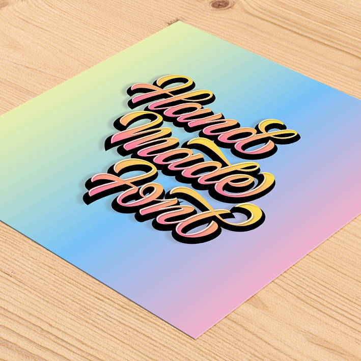 Tania Hearn lettering designer Gold Coast — typography Hand Made Font