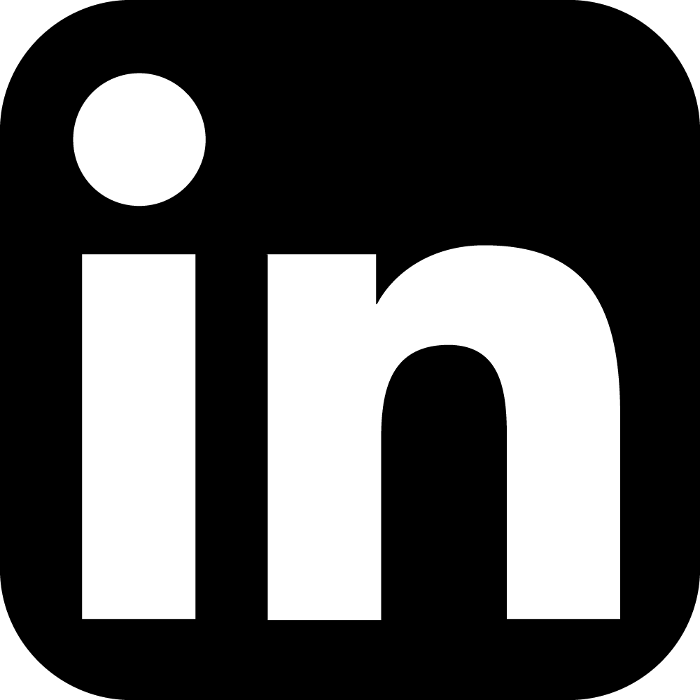 Linkedin icon squircle dark