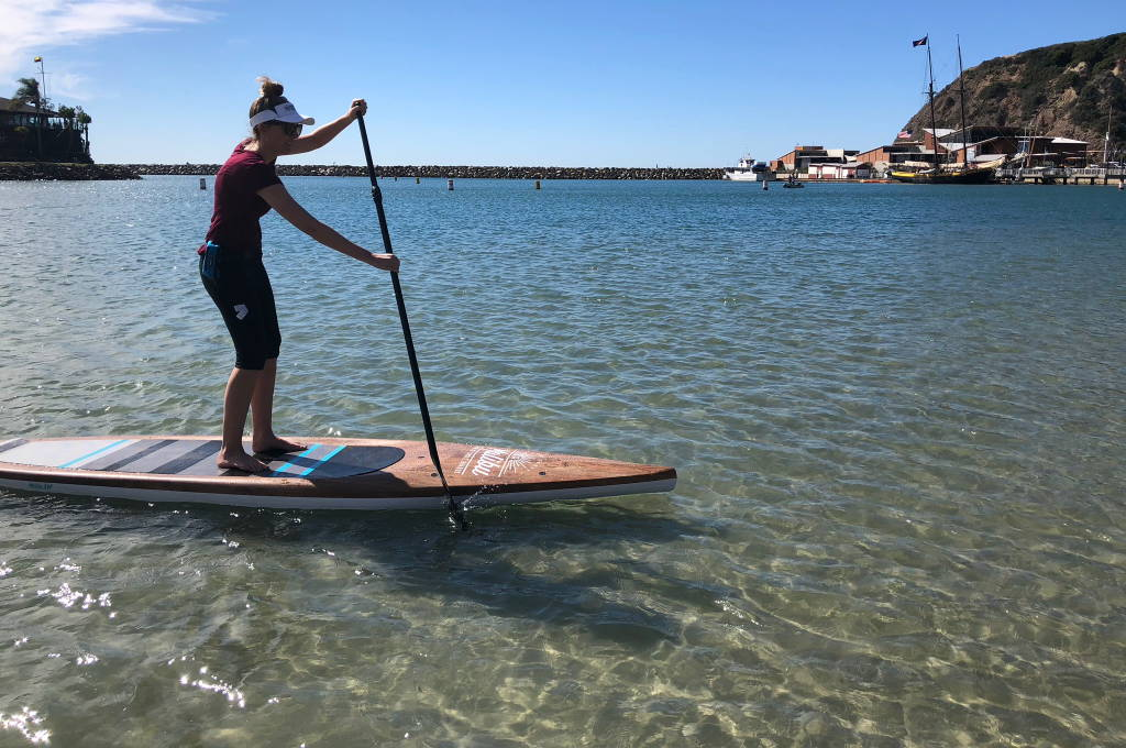 Malibu Wood WFT paddled in Dana Point