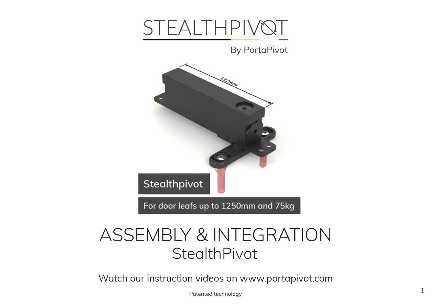 Stealth Pivot NL assembly and integration manual