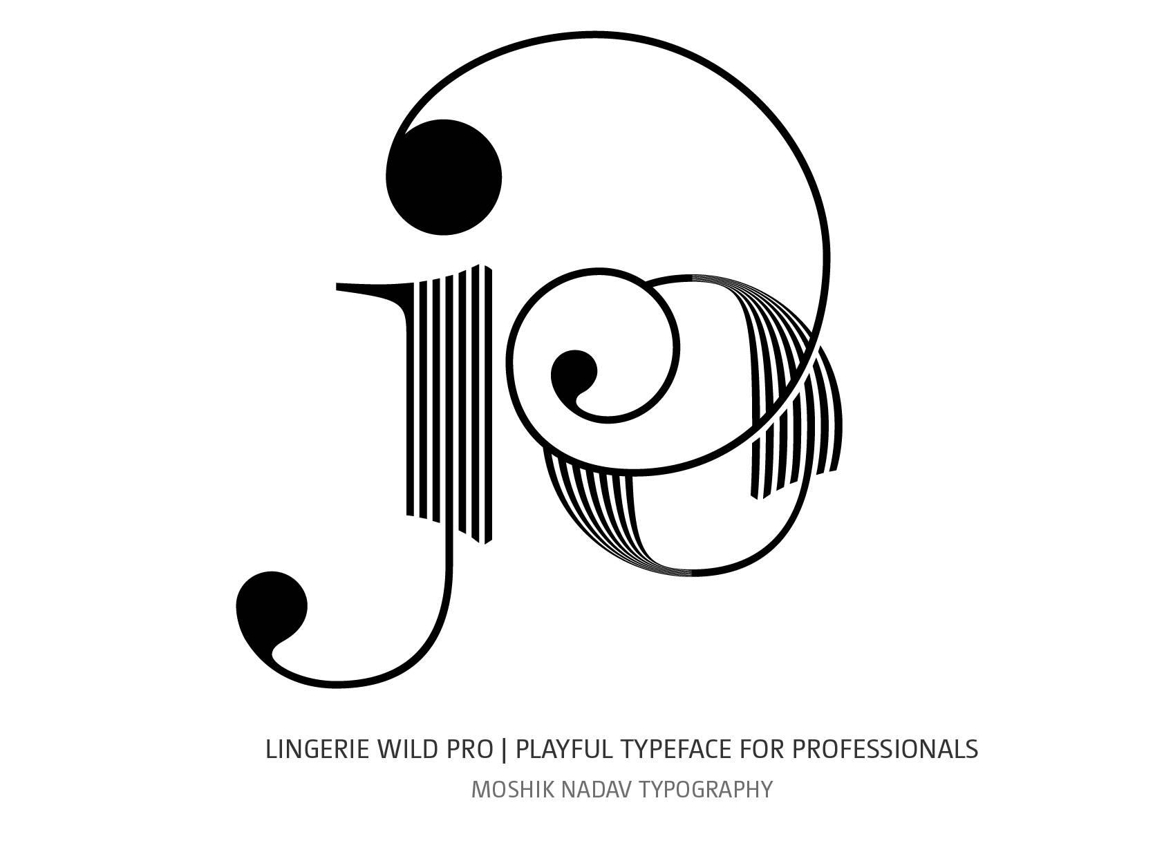 Super sexy jo ligature designed by Lingerie Wild Pro Typeface