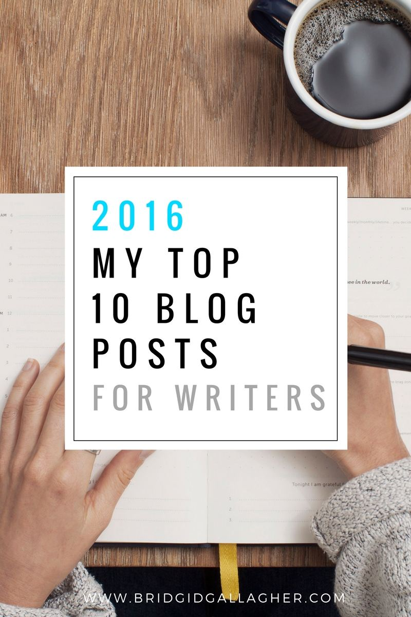 I've compiled the 10 most popular of my blog posts for writers in 2016. The popularity is based on number of page views (and not all of these were posted in 2016). Check out the list on my blog >>>