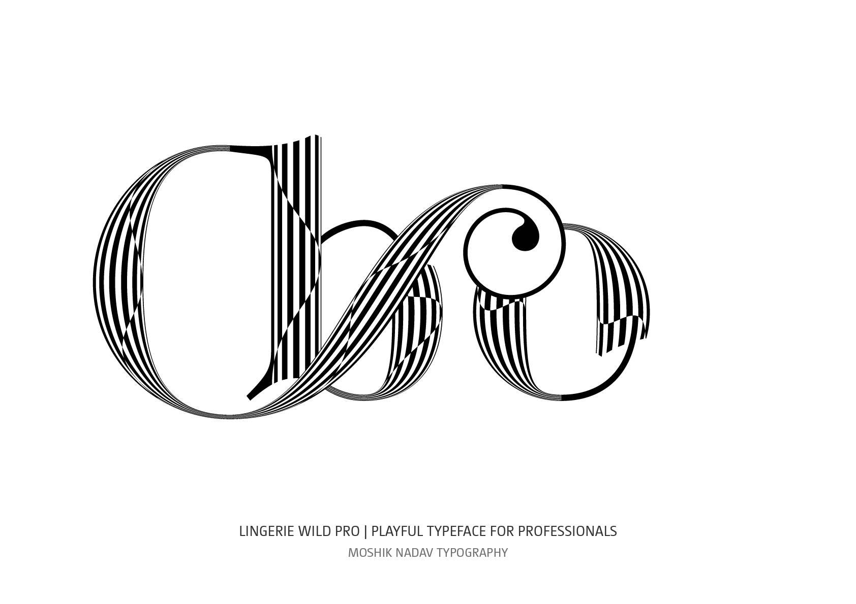 bo sexy ligature by Moshik Nadav Typography