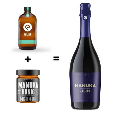 RHO Kombucha und Manuka Honig werden genutzt zur Herstellung des Manuka JUN